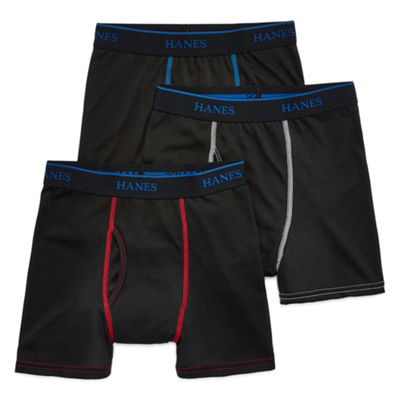 Hanes® Boys' X-Temp® Cotton Poly Boxer Briefs 3-Pack
