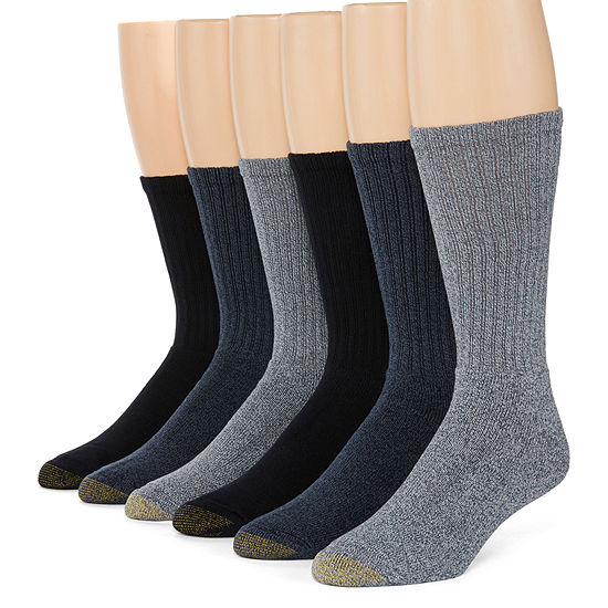 79f284bf52a2 Gold Toe® 6-pk. Mens Harrington Casual Crew Socks - Extended Size ...