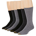 Gold Toe® 6-pk. Mens Harrington Casual Crew Socks - Extended Size