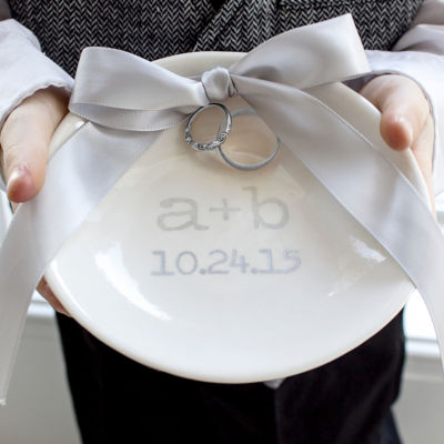 Cathys Concepts Accented Personalized Wedding Ring Dish JCPenney