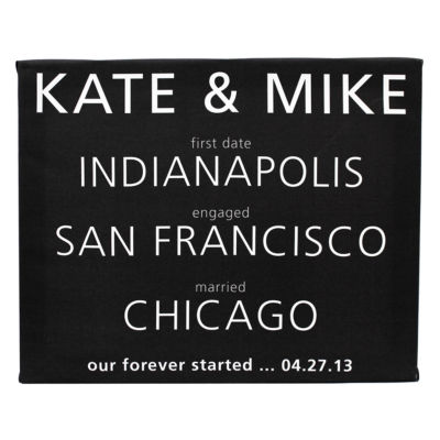 Cathy's Concepts Personalized About Us Gallery Wrapped Canvas
