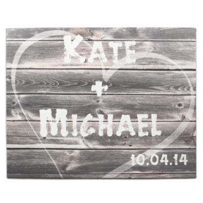 Cathy's Concepts  Personalized Rustic Wood Gallery Wrapped Canvas