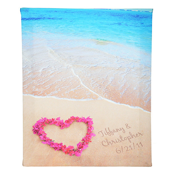 Cathy's Concepts Personalized Ocean Waves of Love Gallery Wrapped Canvas