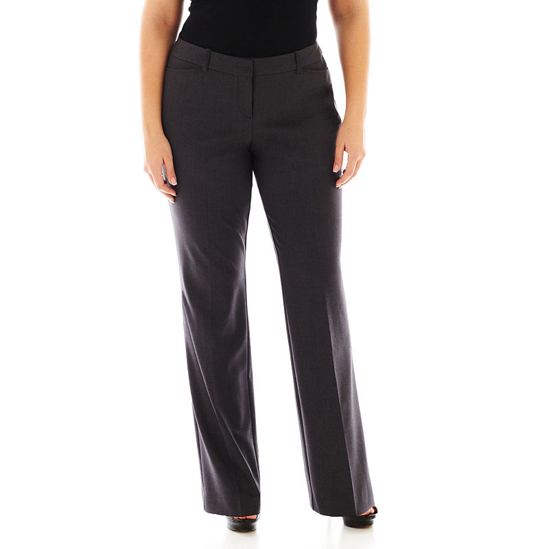 Worthington Modern Fit Trouser Pants- Plus plus size,  plus size fashion plus size appare