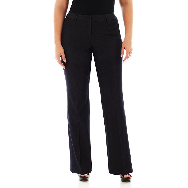 Worthington Modern Fit Trouser Pants - Plus plus size,  plus size fashion plus size appare