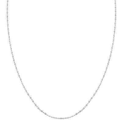 Silver Treasures 20 Inch Hollow Bead Chain Necklace
