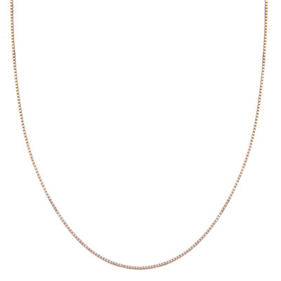 Silver Treasures Solid Box 18 Inch Chain Necklace