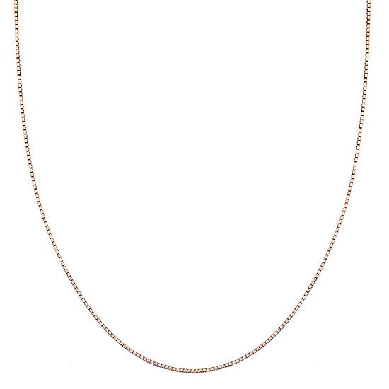 Silver Treasures 18 Inch Solid Box Chain Necklace
