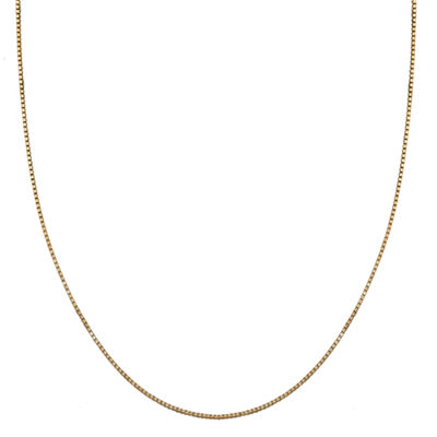 Silver Treasures 20 Inch Solid Box Chain Necklace
