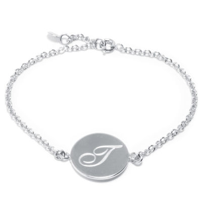 Sparkle Allure Womens 7 Inch Silver Over Brass Link Bracelet