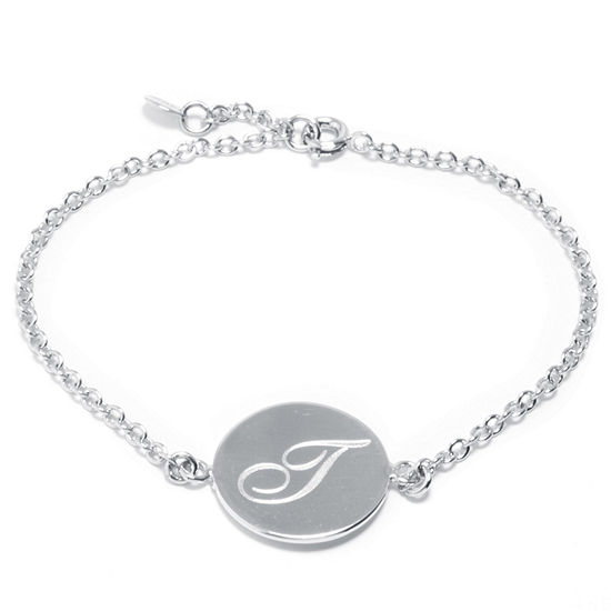 Sparkle Allure Pure Silver Over Brass 7 Inch Cable Link Bracelet