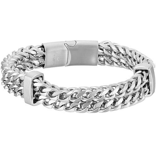 Mens 8 1/2 Inch Stainless Steel Chain Bracelet