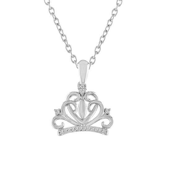 """One In A Million"" Womens Diamond Accent Genuine White Diamond Sterling Silver Pendant Necklace"