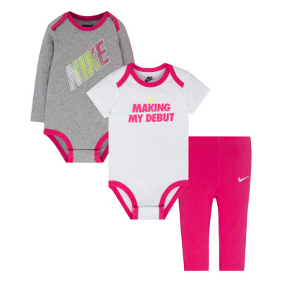Nike 3-pc. Bodysuit Set-Baby Girls