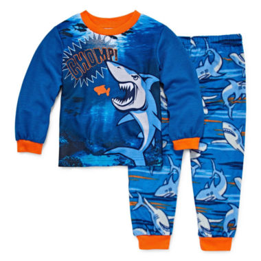 Shark 2 Piece Pajama Set - Toddler Boys