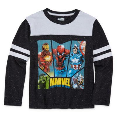 Long Sleeve Marvel T-Shirt-Preschool Boys