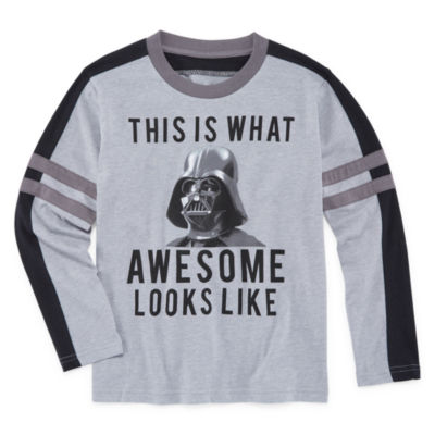 Long Sleeve Star Wars T-Shirt-Preschool Boys