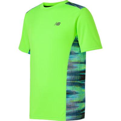 New Balance Short Sleeve Crew Neck T-Shirt-Big Kid Boys