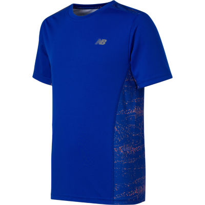 New Balance Short Sleeve Crew Neck T-Shirt-Big Kid Boys