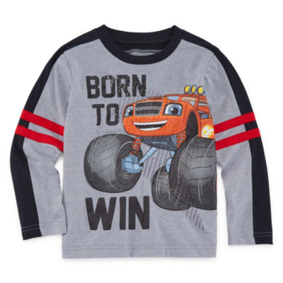 Long Sleeve Crew Neck Blaze T-Shirt-Toddler Boys