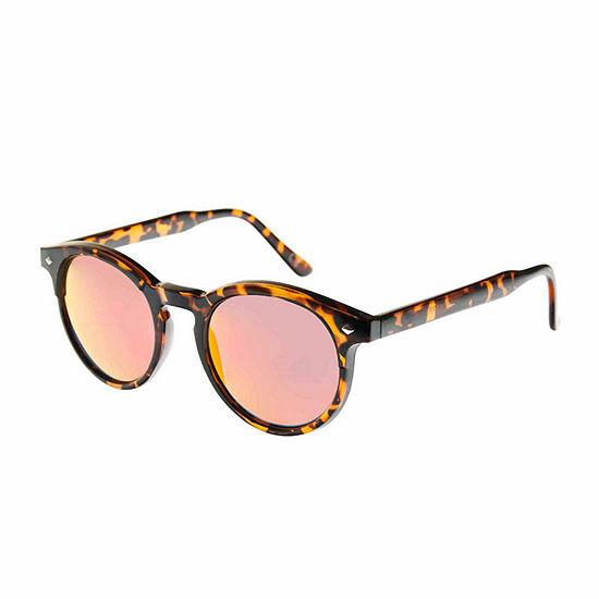 Arizona Mens Half Frame Round Sunglasses