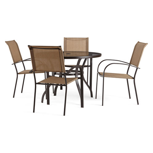 Outdoor Oasis Melbourne 5-pc. Round Glass Patio Dining Set