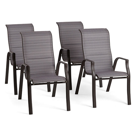 Outdoor Oasis Melbourne 4-pc. Stackable Patio Dining Chair
