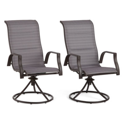 Outdoor Oasis Melbourne 2-pc. Swivel Patio Dining Chair