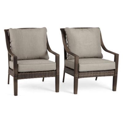 Outdoor Oasis Latigo Wicker 2-pack Conversational Chair