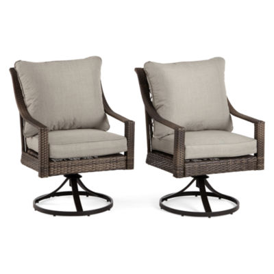 Outdoor Oasis Latigo Wicker 2-pc. Swivel Conversational Chair