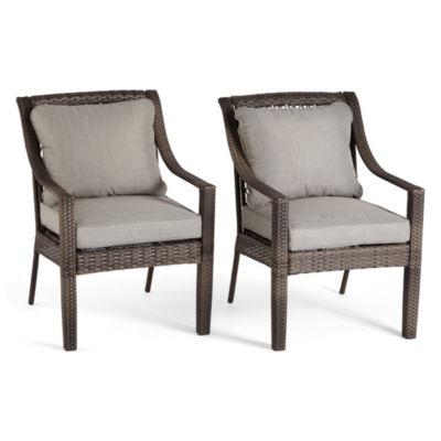 Outdoor Oasis Latigo Wicker 2-pack Patio Dining Chair