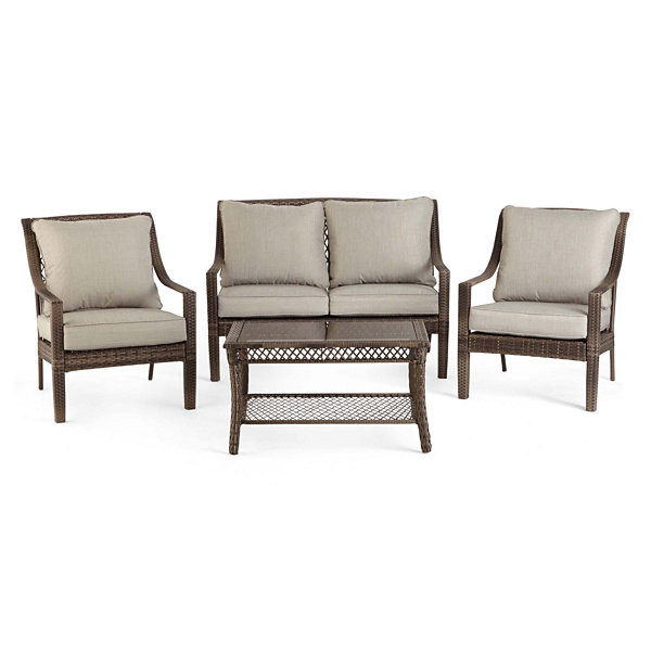 Outdoor Oasis Latigo Wicker 4 Pc Conversation Set