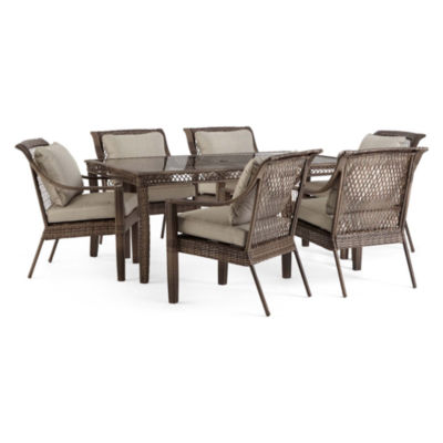 Outdoor Oasis Latigo Wicker 7-pc. Rectangular Patio Dining Set