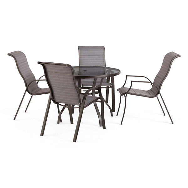 Outdoor Oasis Melbourne 5 Pc Round Gl Patio Dining Set
