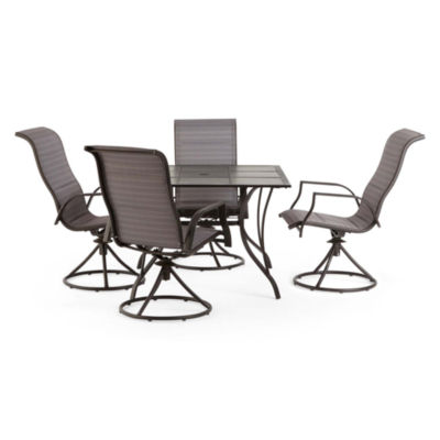 Outdoor Oasis Melbourne 5-pc. Square Tile Patio Dining Set with Swivel Chairs