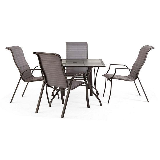 Outdoor Oasis Melbourne 5 Pc Square Tile Patio Dining Set Jcpenney