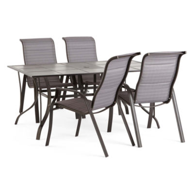 Outdoor Oasis Melbourne 5-pc. Rectangular Tile Patio Dining Set