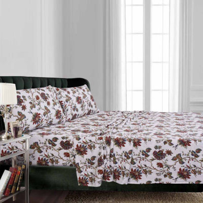 Tribeca Living Rainforest Floral Flannel Sheet Set