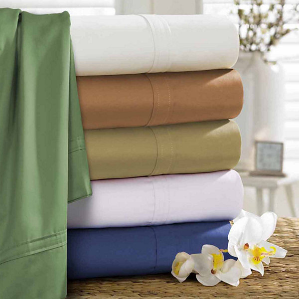 Tribeca Living 500 Thread Count Egyptian Cotton Sateen Sheet Set