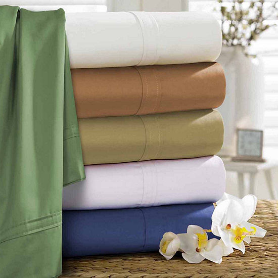 Tribeca Living 500 Thread Count Egyptian Cotton Sateen Sheet Set