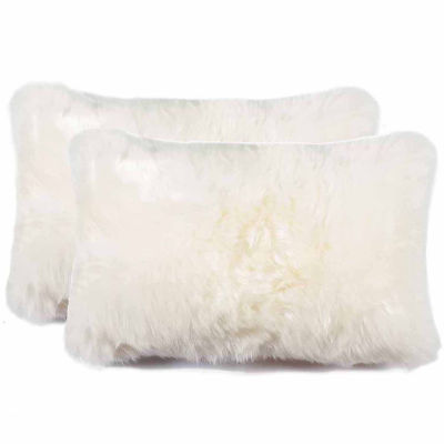Nelson Sheepskin Throw Pillow