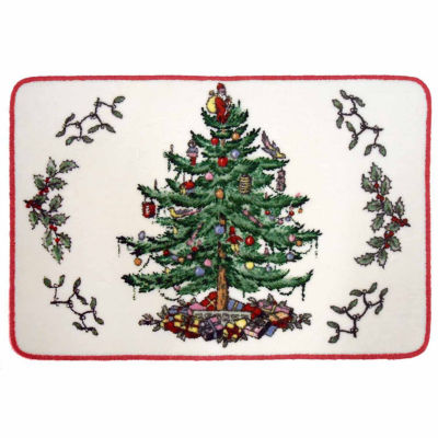 Avanti Spode Christmas Tree Bath Rug