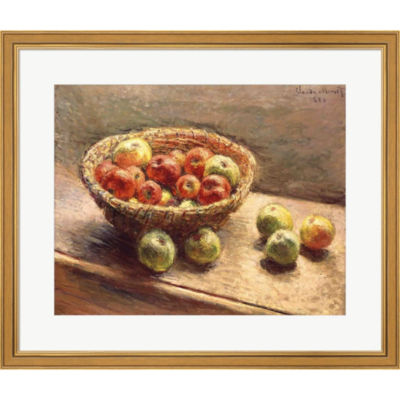 A Bowl Of Apples 1880 Framed Print Wall Art