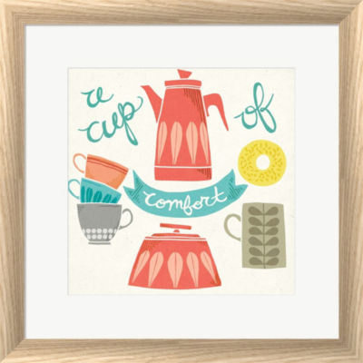 Metaverse Art A Cup Of Comfort Framed Print Wall Art