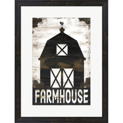 Metaverse Art Farmhouse Barn Framed Print Wall Art