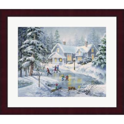 Metaverse Art A Fine Winter's Eve Framed Print Wall Art