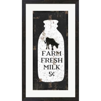 Farmhouse Milk Bottle Framed Print Wall Art