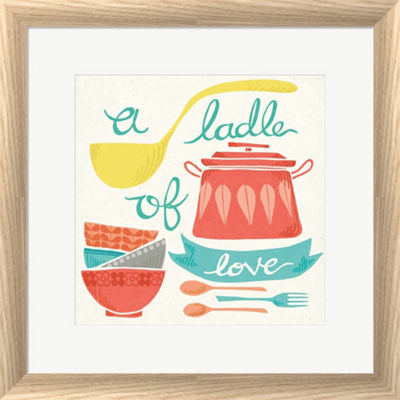 Metaverse Art A Ladle Of Love Framed Print Wall Art