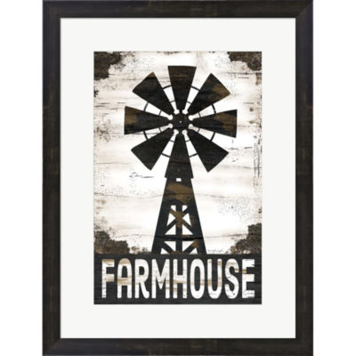 Farmhouse Windmill Framed Print Wall Art