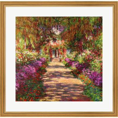 A Pathway In Monet's Garden  Giverny 1902 Framed Print Wall Art